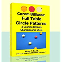 Carom Billiards: Full Table Circle Patterns: 3-Cushion Billiards Championship Shots (English Edition)