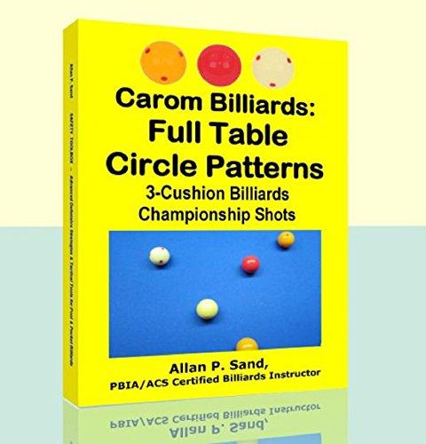 Carom Billiards: Full Table Circle Patterns: 3-Cushion Billiards Championship Shots (English Edition) por Allan Sand