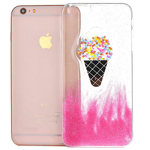 EUWLY Custodia per iPhone 7/iPhone 8 (4.7), EUWLY Clear Bello Cover Gomma TPU Custodia Protettiva Soft Silicone Case Anti-Graffio Protettivo Custodia Antiscivolo Protettiva Shell Case Cover Per iPhon Gelato