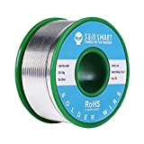 SainSmart Fil à souder sans plomb 0,6/0,8/1 mm avec Rosin2 Sn97 Cu0.7 Ag0.3, fil d'étain à souder électrique (100 g/0,22 lbs), Solder Wire-0.6mm, 0.6mm
