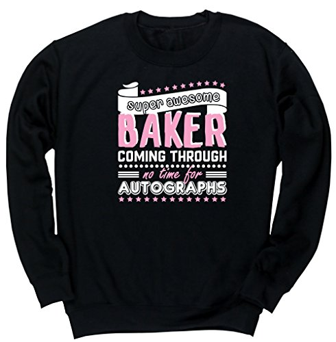 hippowarehouse-super-awesome-baker-coming-through-no-time-for-autographs-kids-unisex-jumper-sweatshi