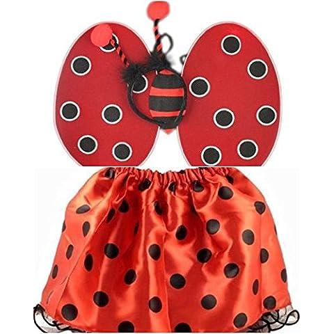 Ali da coccinella Gonna tutù Bumble Bee-Ali per travestimento Bug-Set fasce per la casa