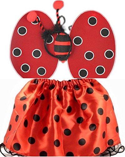 (Marienkäfer Flügel Tutu Rock Bumble Bee Flügel Bug Set Fancy Kleid Headbands Zubehör)