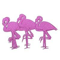 MagiDeal 12pcs Glitter Paper Flamingo Stickers Bottle Cup Label Decals DIY Art Craft