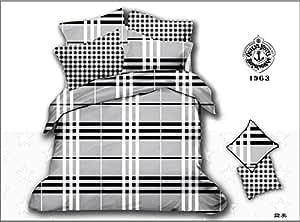 3d Noir et Blanc-Parure de lit en lin de funda nordica roupas Parure de lit Motif cama Parure de lit drap de lit-elle est d'une couleur Par lot/pc