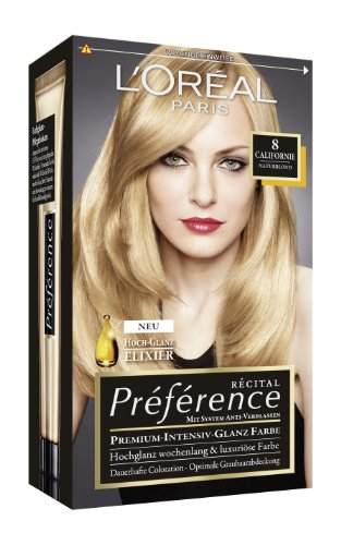 loral paris prfrence coloration naturblond 8 3er pack 3 x 1 colorationsset - L Oreal Coloration Blond