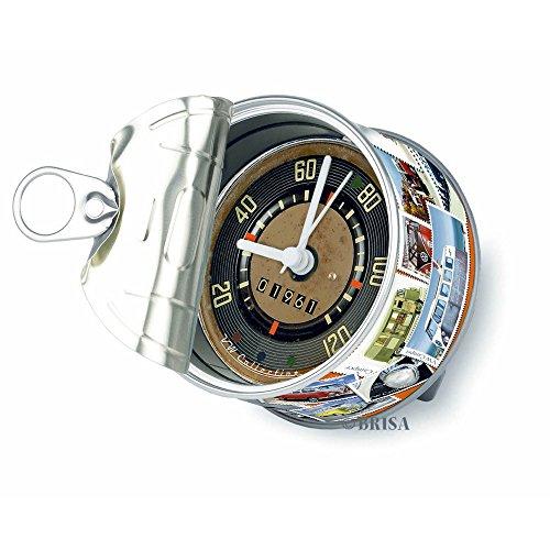 VW Kollektion Tischuhr Magnetuhr MyClock, die Uhr in der Dose mit VW Bus T1 Motiv (Einheitsgröße) (Mehrfarbig ) Vw Bus Uhr