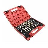 JINXL 114 piezas Kit de reparación de roscas de cárter de aceite de automóvil que incluye tornillos de rosca de rosca de aceite de anillo de sello Herramientas de enfermería