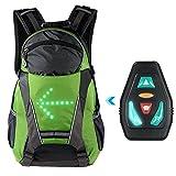 Lixada Sac À Dos Réfléchissant Léger USB Rechargeable avec LED Signal Light en Plein Air Sport Sac de Sécurité Gear pour Cyclisme Courir Marche Jogging 5L (Vert -18L)
