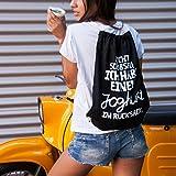 VISUAL STATEMENTS® Turnbeutel schwarz mit Spruch / Viele verschiedene Sprüche & Designs / PREMIUM QUALITÄT / Robuste Kordel & 100% schwere Baumwolle / Collegebag / Gymbag / Sportbeutel / Mimimi -