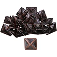 Red Bronze Antique Square Upholstery Uñas Tack Pyramid Studs Vintage Furniture 30x30mm Paquete de 20