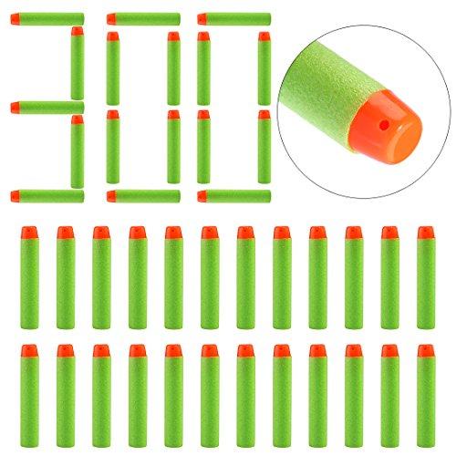 FOKOM 300er Soft Dartpfeile Darts Pfeile Zubehör für Nerf Elite Modulus (Grüner Pfeil 100)