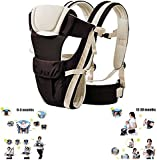 Itian Adjustable 4 Positions Carrier 3D Backpack Pouch Bag Wrap Soft Structured Ergonomic Sling Front Back Newborn Baby Infant (Khaki)