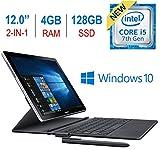 Samsung Galaxy book W720NZKB Laptop (Windows 10, 4GB RAM, 128GB HDD, Intel Core i5, Black, 12.0 Inch)