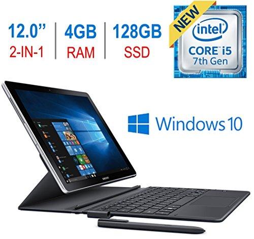 Samsung Galaxy book W720NZKB Laptop (Windows 10, 4GB RAM, 128GB HDD) Black Price in India