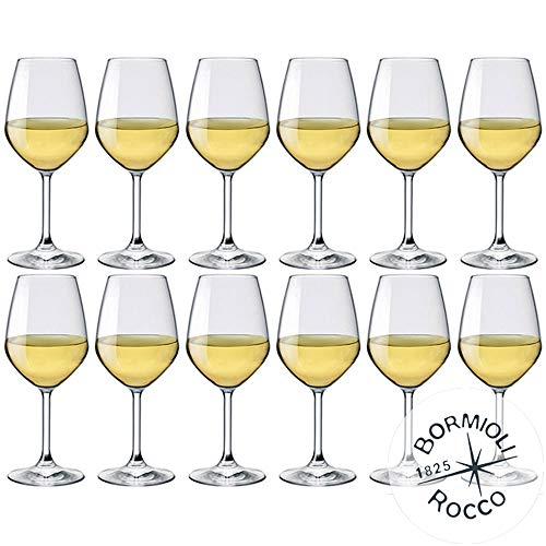 Bormioli Rocco-Juego de 12copas de vino blanco MOD. Divino 44-44Capacidad: cl.-Star Glass-La innovadora colección divino: una nueva serie de copas para vino de Star Glass inspiradores la consistencia de la altura y las formas Piacevolmente ...