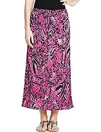 Ladies Pink Animal Print Elasticated Waist Crinkle Chiffon Skirt. RRP: £35