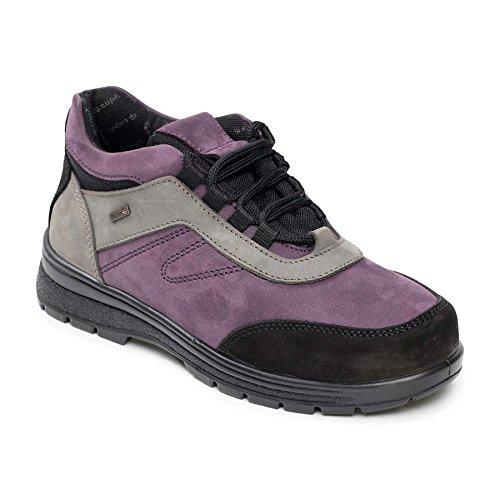 donne Padders stivali di gomma di cuoio 'Jump' | profonda e ampia | Extra grande larghezza di EE-SEE | Made in Britain | 35 millimetri tallone | calzascarpe libero Malva