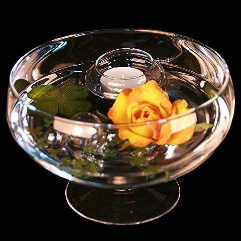 Round Glass Bowl Roxy 75Height 11cm Diameter 17cm. Flat Glass