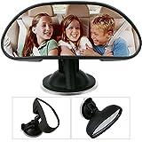 TedGem Specchio auto bambino per sedili posteriori, Specchietto retrovisore per neonati, Specchietto Auto per Bambini Regolabile per Sicurezza Poggiatesta Posteriore Auto, Nero