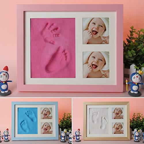 Topsale-ycld Leyeet Baby Handprint Bilderrahmen-Kit für Neugeborene Mädchen & Jungen Keepsake Ornament für Zimmer (Color : Pink) (Baby Kit Ornament Handabdruck)