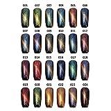 Bluelover 24 Colori Cat'S Eye Colore Cambiando Nail Art Uv Gel Polacco Magia Magnetica 12Ml-10