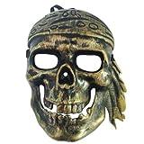 Funcart Golden Antique Pirate skull face...