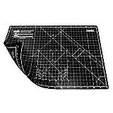 ANSIO A3 autoguarigione a Doppio Lato 5 Strati di Taglio Mat Imperiale/metrico da 17 x 11 Pollici / 42 x 27 cm - Nero/Nero