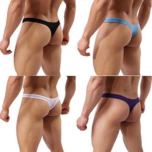 Homme String Tanga Natation Briefs Boxer Trunks Shorts Triangle Sport Shorts de bain Taille Basse Loisir