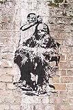 Banksy Photo Chewbacca haircut Barber Wall Print A3 Large Graffiti Grafitti Street Art Poster