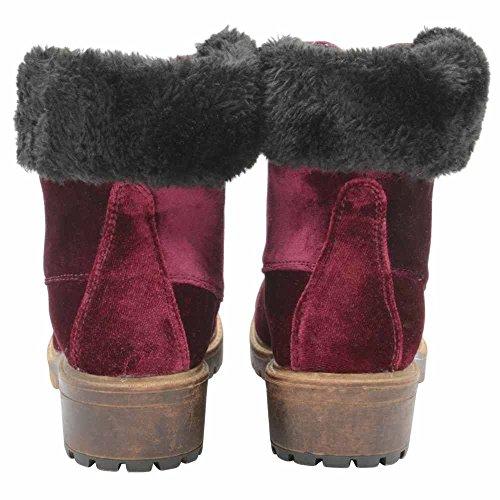 DolcisJoan - Stivali alla caviglia donna Wine