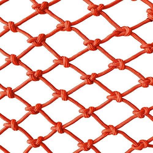 2 * 3 mt kinderschutznetz, balkontreppenschutznetz anti-fall net hanfseil net zaun net, farbe dekorative net nylon net seil, verwendet für balkontreppen indoor und outdoor dekoration (orange)