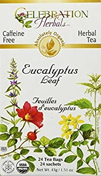 Celebration Herbals Organic Eucalyptus Leaf Tea Caffeine Free -- 24 Herbal Tea Bags