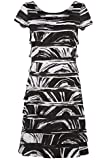 Womens Contrast Frill Dress - Ladies - Black - Size 10 12 14 16 18 20