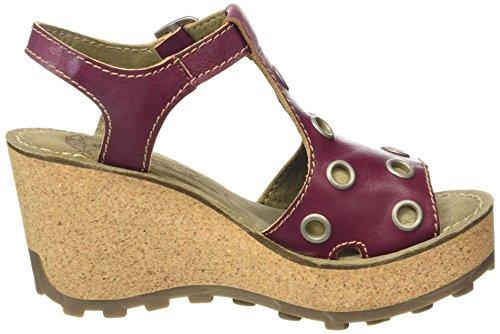FLY London Goff643fly, Sandales Compensées femme Violet - Purple (Magenta)