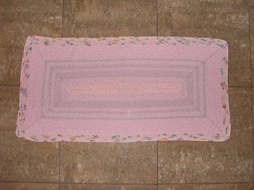 gehäkelter Teppich Matte Unterlage Vorleger Fußabtreter moderner Fleckerl- und Baumwollteppichen