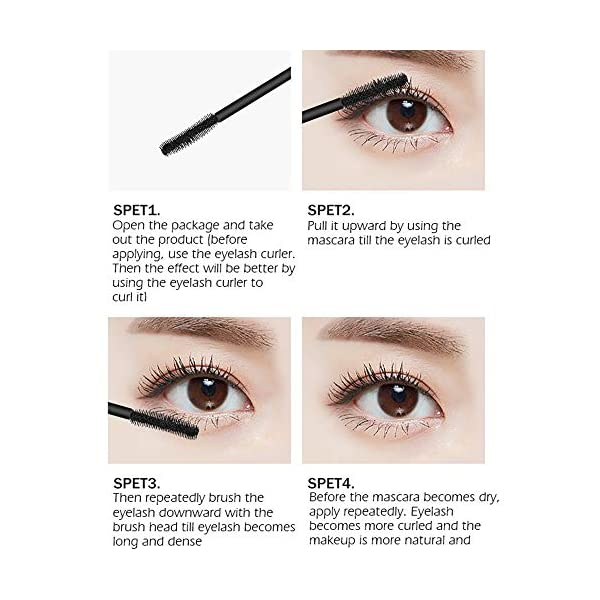 4D Silk Fiber Lash Mascara for Longer, Thicker, Voluminous Eyelashes,Natural Waterproof Smudge-Proof, All Day Full, Long…