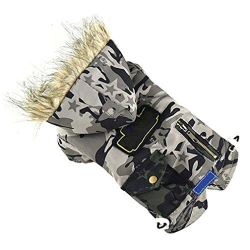 Baumwolle Gepolstert Kleidung (alkyoneus Pet Hund Camouflage Winter Warm Baumwolle gepolsterte Jacke Kleidung)