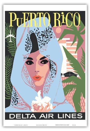 porto-rico-delta-air-lines-femme-en-bleu-dentelle-mantille-vintage-airline-travel-poster-c1960s-repr