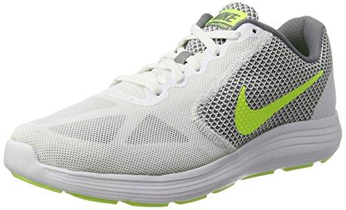 Nike Herren Revolution 3 Hallenschuhe Mehrfarbig (White/Volt-Cool Grey)