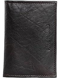 PAUL MARIUS cartera de cuero compartimentos para tarjetas marrón oscuro cartera ALDO
