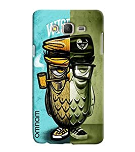 Omnam Owl In Two Different Way Printed Designer Back Cover Case For Samsung Galaxy On 5