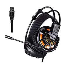 EUKYMR 7.1 Channel Virtual USB Surround Stereo Wired PC Gaming Headset Noise Reduction Game Earphone Headphones for Computer