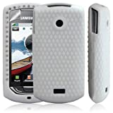 Coque en silicone pour Samsung S5620 Player Star 2 Motif diamant Blanc + Film de protection