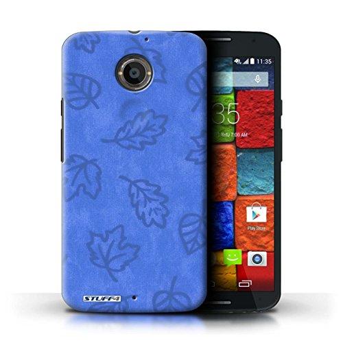 Kobalt® Imprimé Etui / Coque pour Motorola Moto X (2014) / Rouge conception / Série Motif Feuille/Effet Textile Bleu