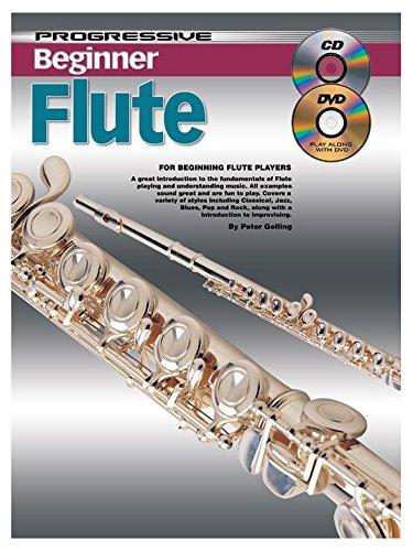 Progressive: Beginner Flute (Book/CD/DVD). Partitions, Livre, CD, DVD (Région 0) pour Flûte Traversière