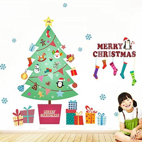 Venkaite Pegatinas Pared árbol de Navidad Vinilos Adhesivos DIY Wall Stickers para...