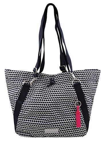 TCM Tchibo Damen Beuteltasche 3 Tragevarianten Rucksack Crossbag Shopper Strandtasche