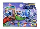 Simba 109402229 – PJ Masks Rival Racers Rennstrecke/ mit Looping/ mit Catboy und Katzenflitzer/ mit Ninja Bus/ mit 25 Streckenteilen (Spielzeug)