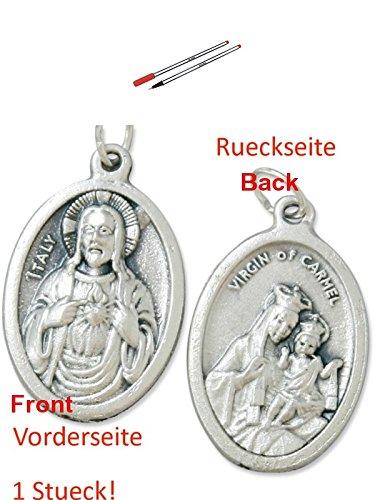Preisvergleich Produktbild niceday Fineliner 10er Set 0.5 rot, Stifte, Tintenschreiber, Feinschreiber (9029774641) mit Anhänger Herz Jesu 2,5cm